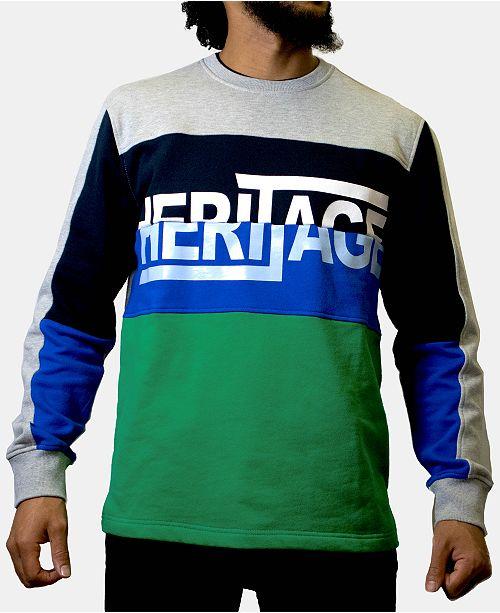 Heritage America Men's Logo Colorblocked Shirt