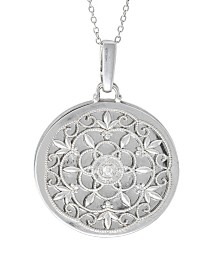 With You Lockets Birdie Photo Locket Necklace with Diamond Accent in Sterling Silver