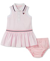 b5f3a6ee1dc3 Tommy Hilfiger Baby Girls Striped Polo Dress