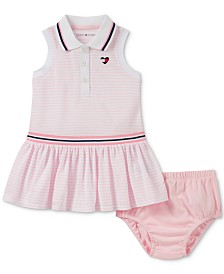 Tommy Hilfiger Baby Girls Striped Polo Dress