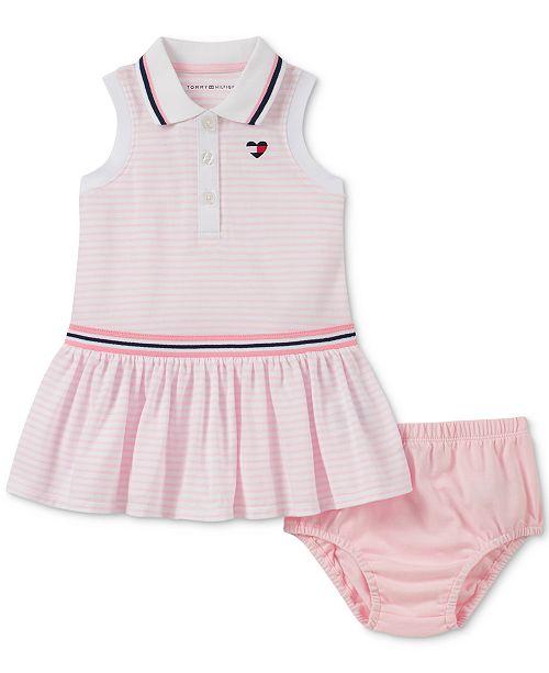 Tommy Hilfiger Baby Girls Striped Polo Dress