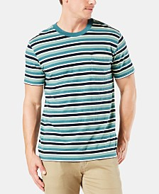 Dockers Men's Alpha Striped Pocket Slim-Fit T-Shirt