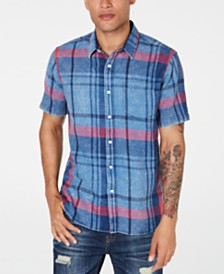 American Rag Men's Moby Plaid Shirt, Created for Macy's