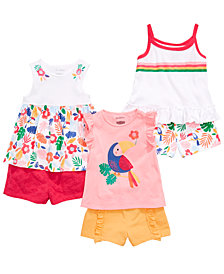 First Impressions Toddler Girls Tropical Mix & Match Tank Tops & Shorts Separates, Created for Macy's