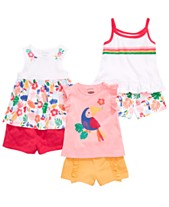 b712b6bdc First Impressions Baby Girls Tropical Mix & Match Tank Tops & Shorts  Separates, Created for