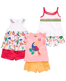 First Impressions Baby Girls Tropical Mix & Match Tank Tops & Shorts Separates, Created for Macy's