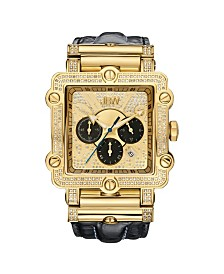 JBW Men's Phantom Diamond (1 ct.t.w.) 18k Gold Plated Stainless Steel Watch