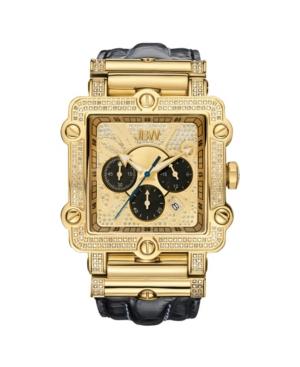 Men's Phantom Diamond (1 ct.t.w.) 18k Gold Plated Stainless Steel Watch