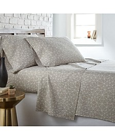 Geometric Maze 4 Piece Printed Sheet Set, Full