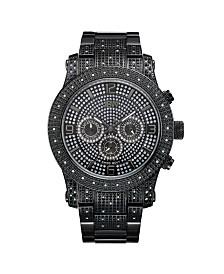JBW Men's Lynx Diamond (3/4 ct.t.w.) Black Ion-Plated Stainless Steel Watch