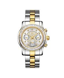 JBW Women's Laurel Diamond (1/10 ct.t.w.) Stainless Steel Watch