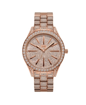 Women's Cristal Diamond (1/8 ct.t.w.) 18k rose Gold Plated Stainless Steel Watch