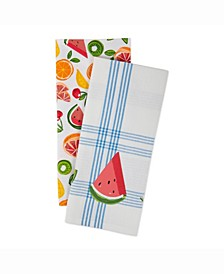 Asset Fruity Slice Print Dishtowel Set of 2
