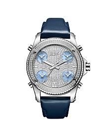 JBW Men's Jet Setter Diamond (1 1/4 ct.t.w.) Stainless Steel Watch