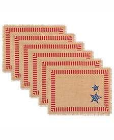 4Th of July Jute Placemat Set of 6