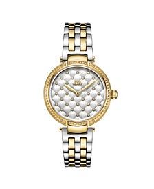 Women's Gala Diamond (1/5 ct.t.w.) 18k Gold Plated Stainless Steel Watch