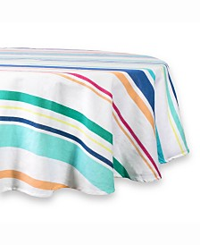 "Table cloth Beachy Keen Stripe 70"" Round"