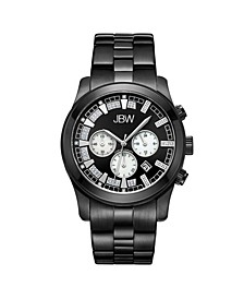 Men's Delano Diamond (1/5 ct.t.w.) Black Ion-Plated Stainless Steel Watch