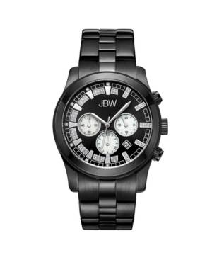 Jbw Men's Delano Diamond (1/5 ct.t.w.) Black Ion-Plated Stainless Steel Watch