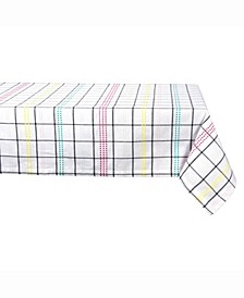"Color Pop Plaid Table cloth 60"" X 104"""