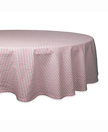 "Rose Seersucker Table cloth 70"" Round"