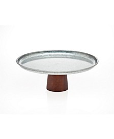 Cakeplate with Wood Base