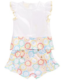 First Impressions Baby Girls Cotton Printed Top & Shorts, Created for Macy's