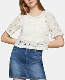 BCBGeneration Daisy-Lace Top