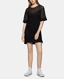 BCBGeneration Mesh Shift Dress