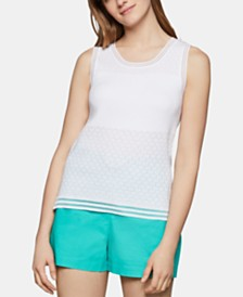 BCBGeneration Striped-Hem Tank Top