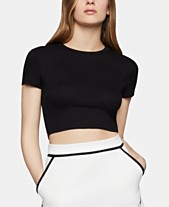 71aa039b47d BCBGeneration Ribbed-Knit Cropped Top
