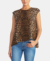 a6b784e428c6b2 RACHEL Rachel Roy Animal-Print Leopard Asymmetrical Cropped Top