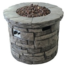 Angeles Outdoor Circular Fire Pit, Quick Ship