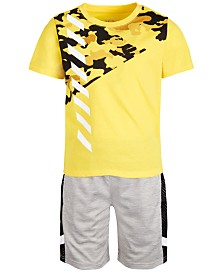 Ideology Little Boys Printed T-Shirt & Mesh-Trimmed Shorts, Created for Macy's
