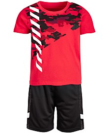 Ideology Toddler Boys 2-Pc. Camo T-Shirt & Shorts Set, Created for Macy's