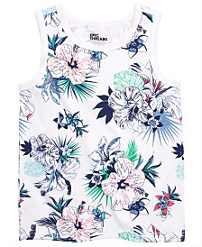 Epic Threads Little Boys Tropical Floral Tank, Created for Macy's