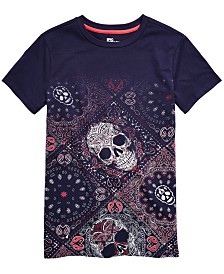 Epic Threads Big Boys Skull Bandana T-Shirt, Created for Macy's