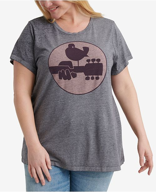 Lucky Brand Plus Size Woodstock Graphic T-Shirt