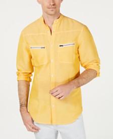 I.N.C. Men's Band-Collar Shirt, Created for Macy's