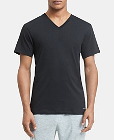 Men's 5-Pk. Cotton Classics V-Neck Undershirts, Created for Macy's