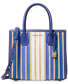 bcfb26fda3cb MICHAEL Michael Kors Mercer Accordion Leather   Straw Tote