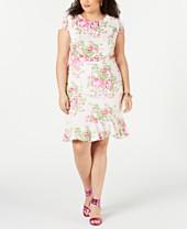 Little White Dress Plus Size Dresses - Macy\'s
