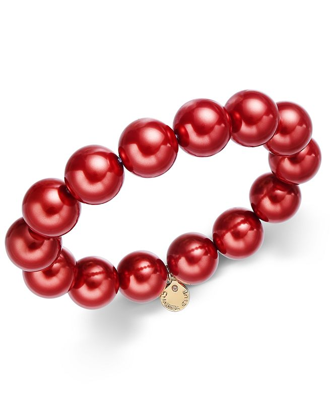 Charter Club Imitation Pearl (14mm) Stretch Bracelet, Created for Macy's