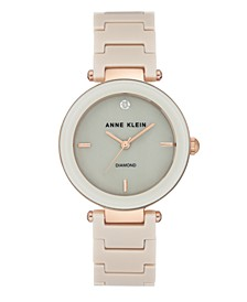 Genuine Mother of Pearl Dial with A Genuine Diamond Watch