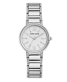 Anne Klein Sandblast Dial with Roman Numerals and Swarovski Crystals Watch