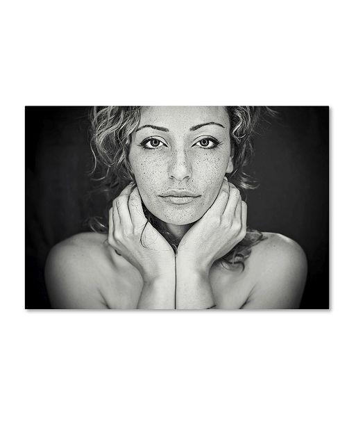 "Trademark Global Oren Hayman 'Freckles' Canvas Art - 47"" x 30"" x 2"""