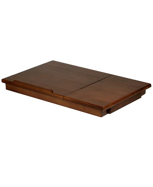 Winsome Alden Lap Desk, Flip Top with Drawer, Foldable Legs