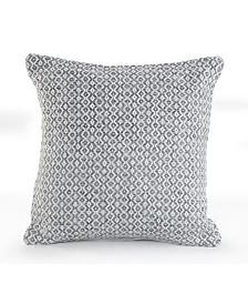 Intertwining Diamond Throw Pillow