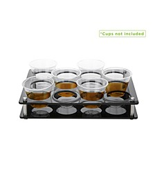 12 Rectangle Slot Cup Holder Tray
