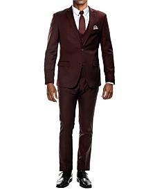 Men's Stretch Ultra Slim Fit 3-Piece Solid Suit